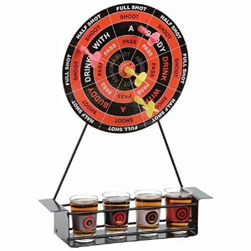 Magnetic Dart board Party Drinking Game with Shot Glasses Included -- Want additional info? Click on the image.