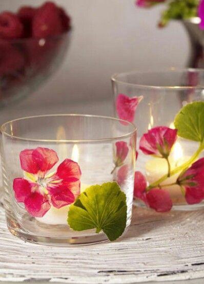 Windlicht met gedroogde bloemen