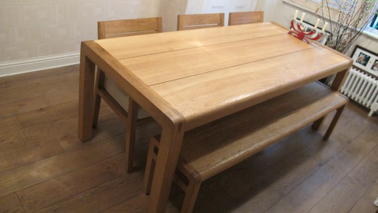 habitat dining table and bench 2