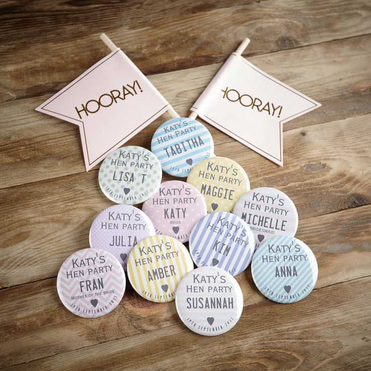 Personalised Hen Night Badges
