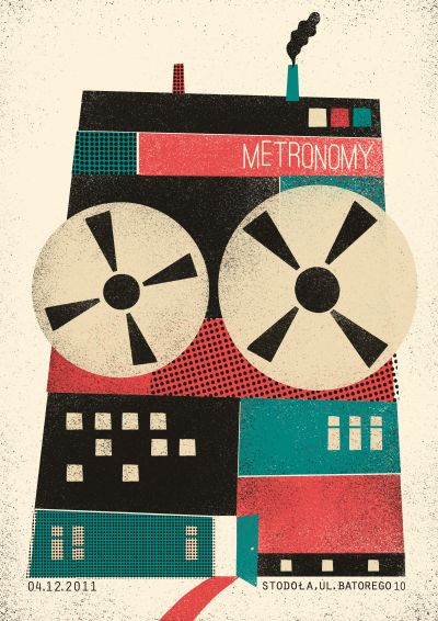 metronomy   posterPicture-Black Posters, Gig Posters, Vintage Illustration, Posters Design, Graphics Design, Dawid Ryski, Music Posters, Inspiration Posters, Poster Designs