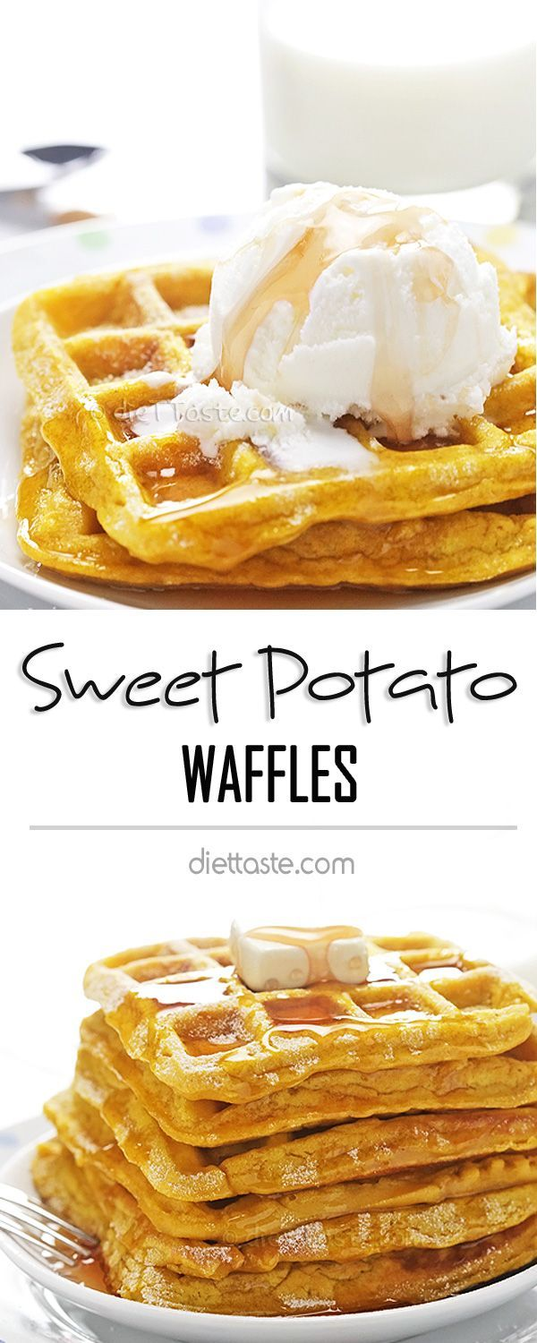 Sweet Potato Waffles - the most tasty way of incorporating healthy veggies into your diet