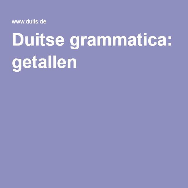 Duitse grammatica: getallen