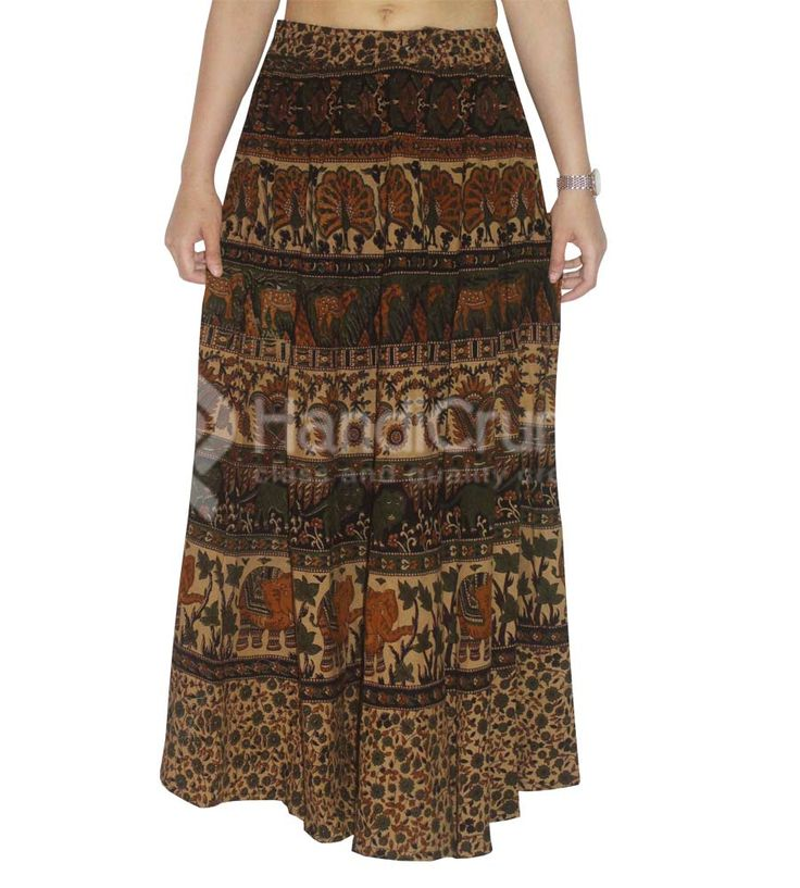 Jaipuri animal themed rapron skirt for women