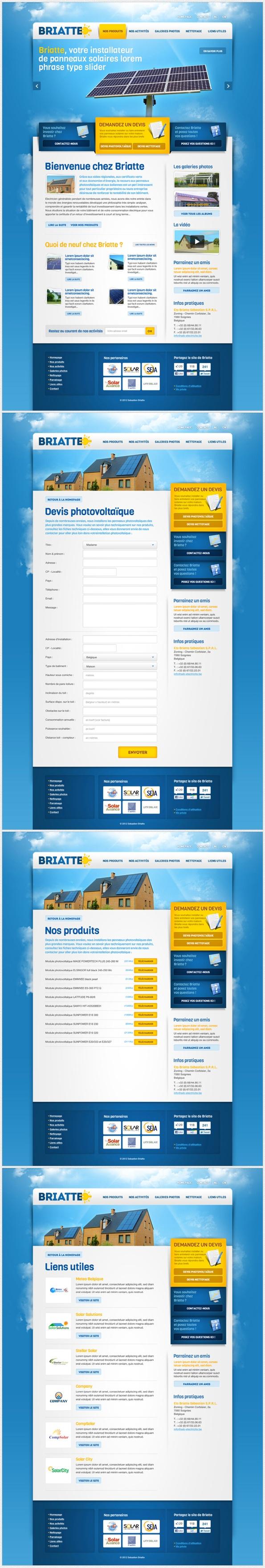 Solar Panel Website #graphicdesign #webdesign #design #website #layout #newsletter