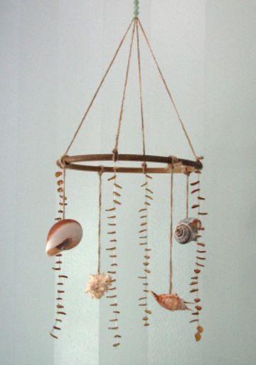 Decorazione per soffitto con le conchiglie
