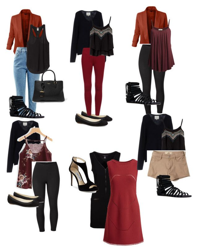"""""""Business Travel packing list"""" by mandy-curtis on Polyvore featuring Ralph Lauren Collection, Venus, Jimmy Choo, JustFab, Ora, DKNY, Alaïa, Hollister Co. and plus size clothing"""