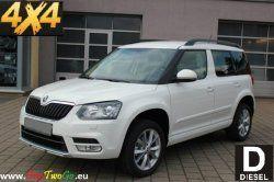 Škoda Yeti 2,0 TDI 4x4 NEW Rok výroby: 2014Výkon: 81 kW (111 koní) Počet osob:Třída: All road Spotřeba: 5 L /100kmPalivo: Nafta Výbava:Výbava Active plus