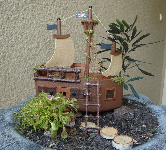 Pirate Fairy Garden House Miniature Fairy House by LillysFigment