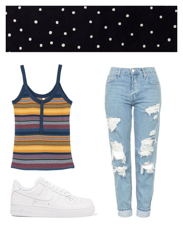 """""""Untitled #201"""" by amyisjoyful on Polyvore featuring RVCA, Topshop, NIKE and Kate Spade"""