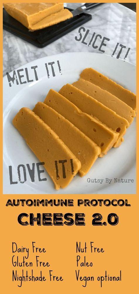 AIP Cheese (replace gelatin with 3/4 tsp agar agar powder to make vegan)