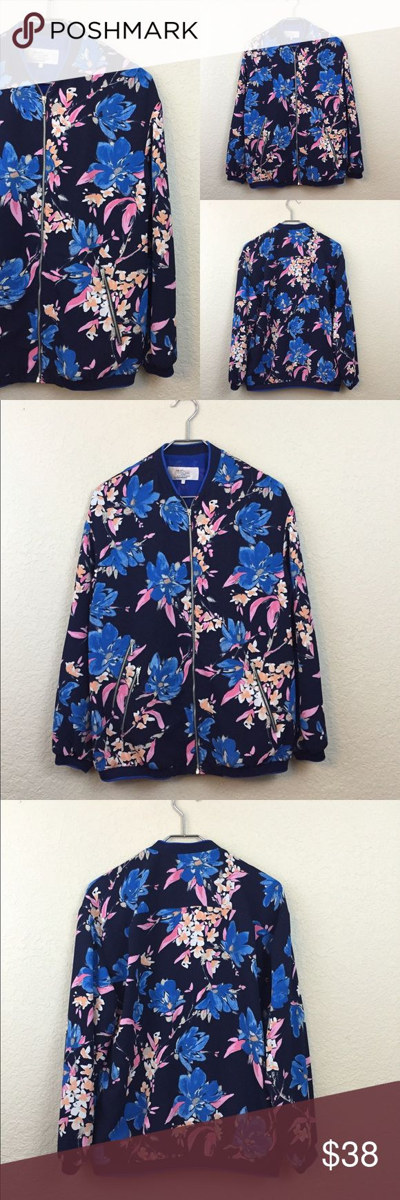 "New Zara floral bomber jacket • Zara • Jacket light weight •  new  • Size Small • polyester • Pit to pit 19"" Zara Jackets & Coats"