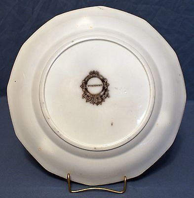 """Flow Mulberry Ironstone 9"""" 12-Panel Plate, Alcock in Vincennes Pattern 1857"""