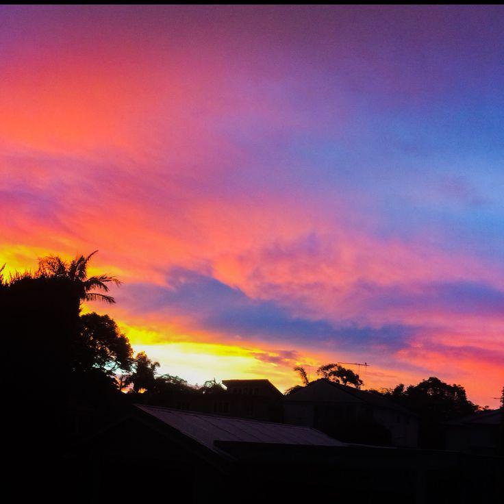 Backyard Sunset Freshwater NSW