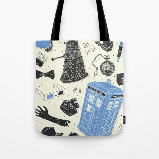 Artifacts: Doctor Who tote by Josh Ln