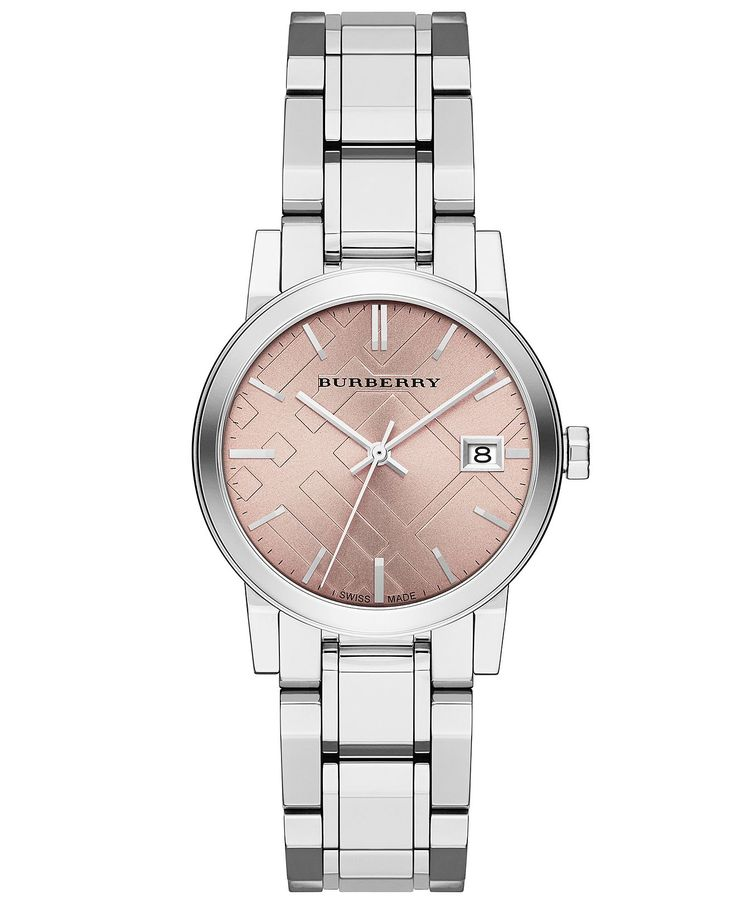 Burberry Watch, Women's Swiss Stainless Steel Bracelet  Style good, pink gold color bad