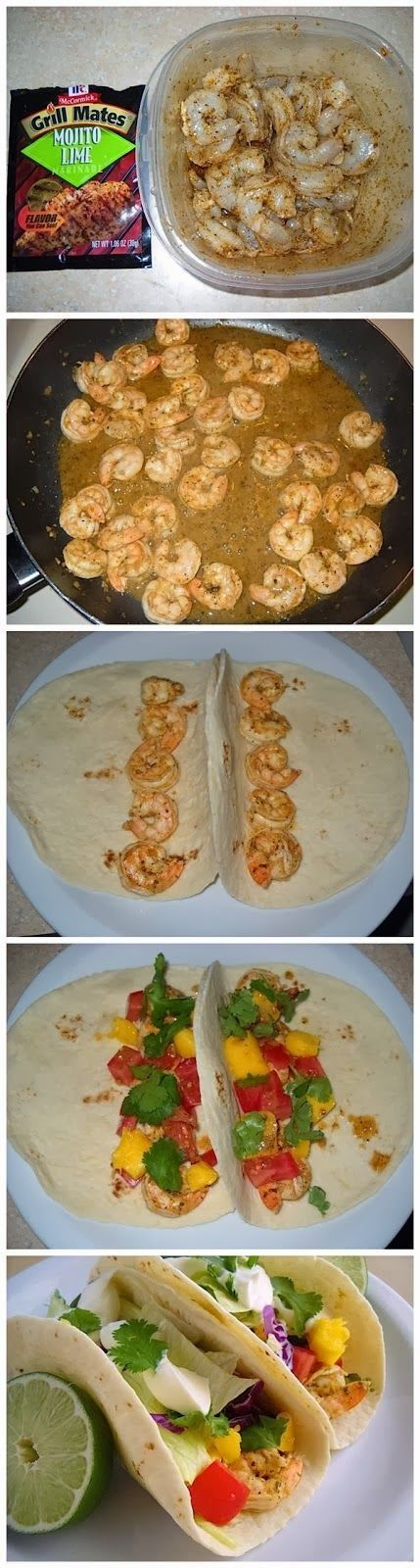 Super Simple Shrimp Tacos-- LENT food!