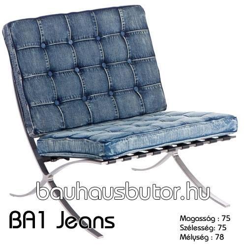 BA1-szék. Design klasszikusok közül az egyik legelterjedtebb és talán legkedveltebb bútordarab a Barcelona szék, melyet Ludwig Mies van der Rohe tervezett 1929-ben a barcelonai világkiállításra. http://www.bauhausbutor.hu/search.html?q=BA1&post_type=product