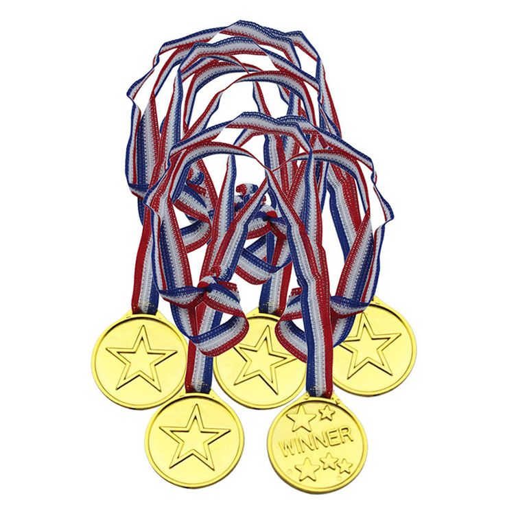 5pcs Children Kids Plastic Winners Medals Sports Day Party Bag Prize Awards Toys #Unbranded