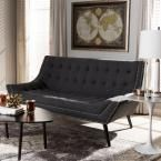 Tamblin Contemporary Gray Fabric Upholstered Bench