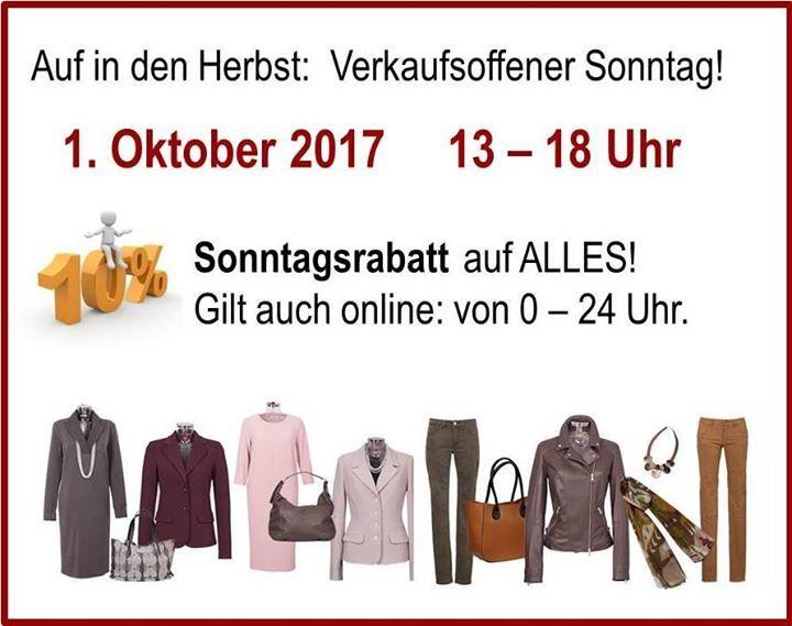 VERKAUFSOFFENER SONNTAG!   Sonntagsrabatt auf ALLES! Öffnungszeit: 13-18 Uhr  Oder in unserem Onlineshop bis 24 Uhr ;-) http://ift.tt/2rLD7qR  #TALL #Berlin #Marburgerstraße14 #VerkaufsoffenerSonntag #Sonntagsrabatt #Sonderrabatt #ReduzierungAufAlles #Herbstmode #AktuelleKollektion #Herbstmode #großeFrau #FitFürDenHerbst