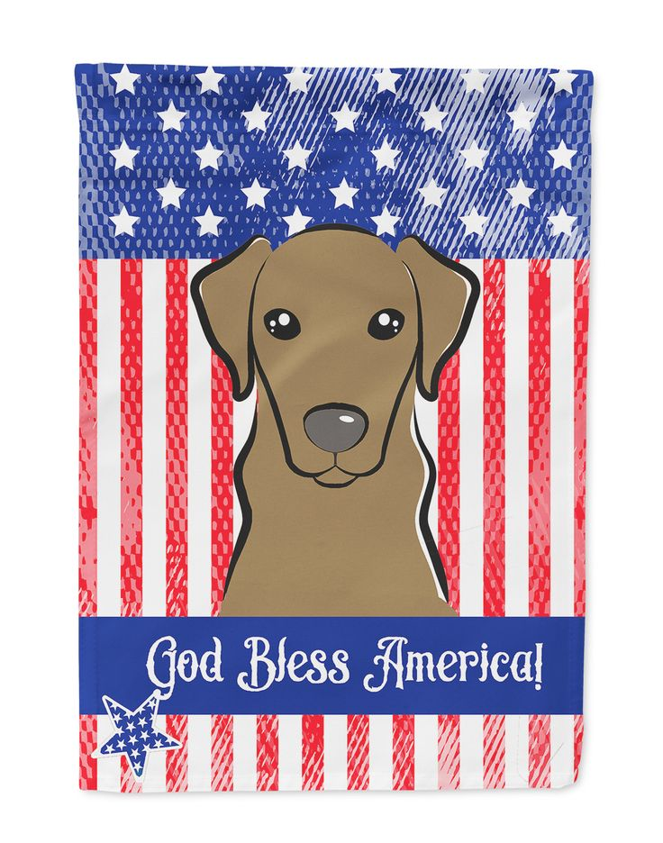 God Bless American Flag with Wirehaired Dachshund Flag Garden Size BB2163GF