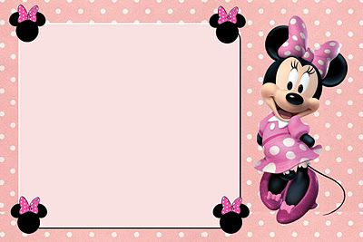 Inspired in Minnie Mouse: Free Printable Party Invitations in pink. Right click and save as