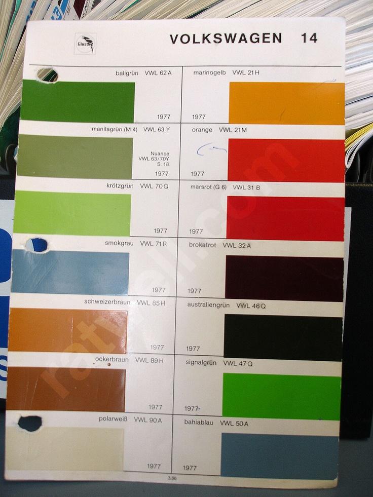 Polo N Paint Codes