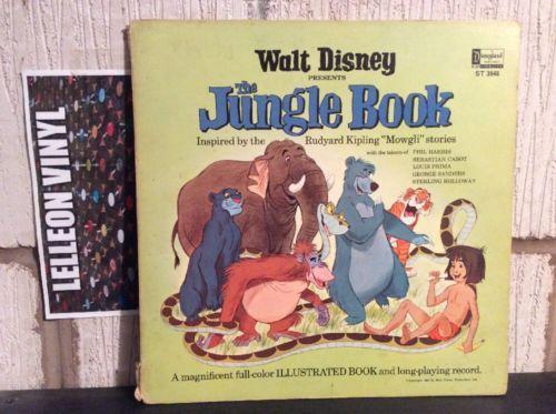 Walt Disney The Jungle Book Gatefold LP ST3948 Cartoon TV Movie 1967 + Booklet Music:Records:Albums/ LPs:Children's