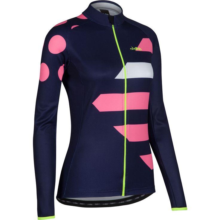 Wiggle | dhb Women's Blok Winter Dasher Long Sleeve Jersey | Long Sleeve Cycling Jerseys