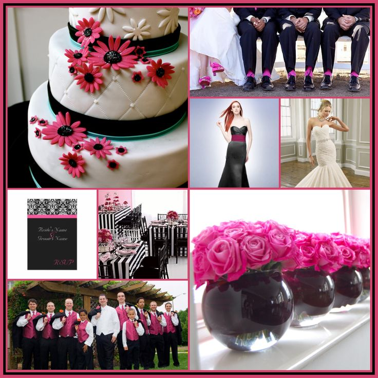 Pink And Black Wedding Ideas: 72 Best Images About My Future Wedding On Pinterest