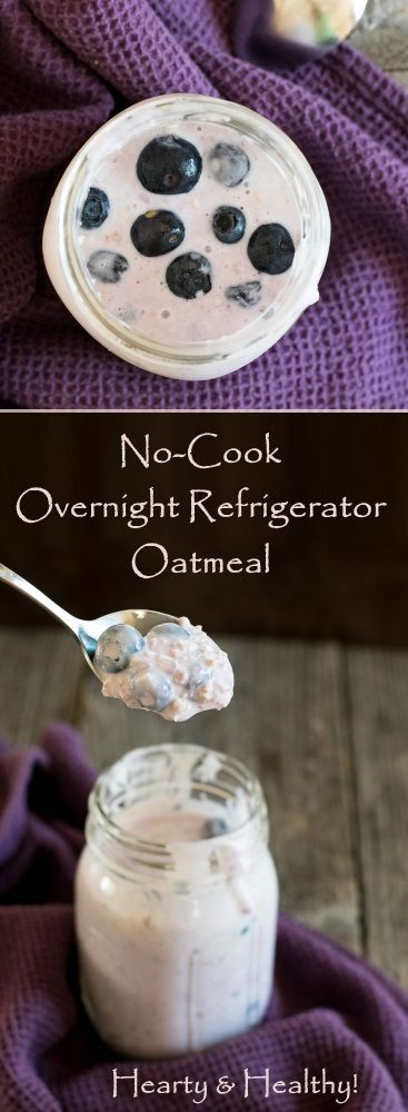 No-Cook Overnight Refrigerator Oatmeal recipe via @foxvalleyfoodie