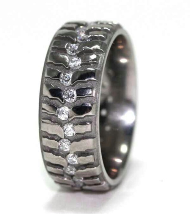 Super swamper men39s wedding band my man would wear this for Super swamper bogger wedding ring