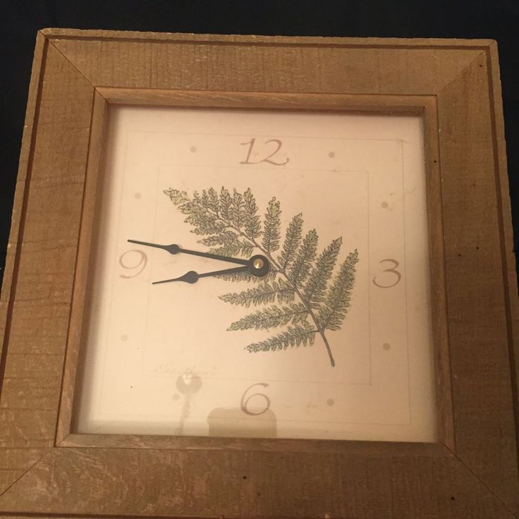 Eddie Bauer - Barnwood Fern - Natural - Wall Clock - 11 Inches