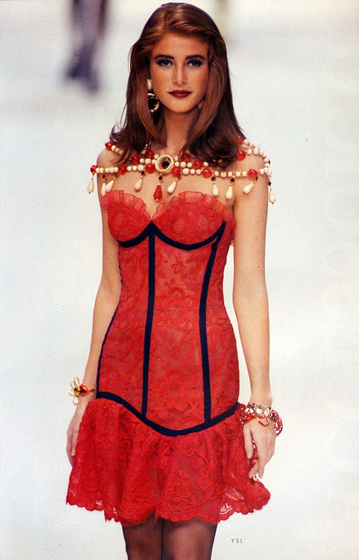 YSL S/S 1992Model : Angie Everhart