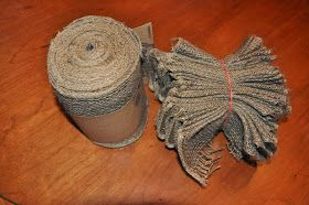 Yesterday I saw lots of pics of gorgeous burlap wreaths on Pinterest . However, most pictures were linked to wreaths for sale on Etsy and di...
