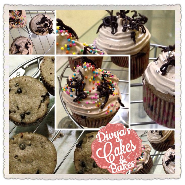 Triple choc cup cakes