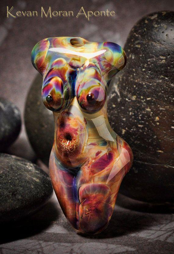Aurora - Handmade Lampwork Glass Goddess Bead