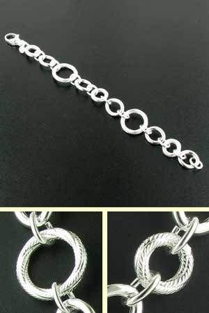 Sterling Silver Rings Bracelet