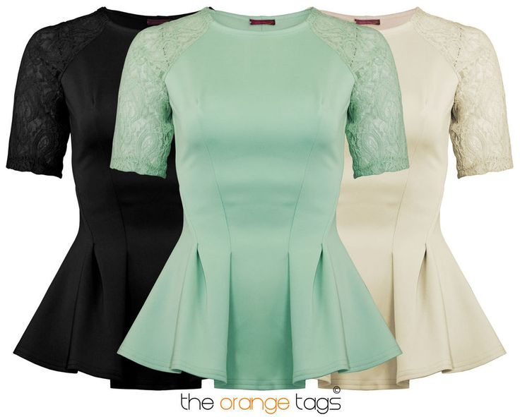 WOMENS SLEEVELSS BODYCON SKATER TOP LADIES LACE SLEEVE PEPLUM PARTY TOP in Clothes, Shoes & Accessories, Women's Clothing, Dresses   eBay