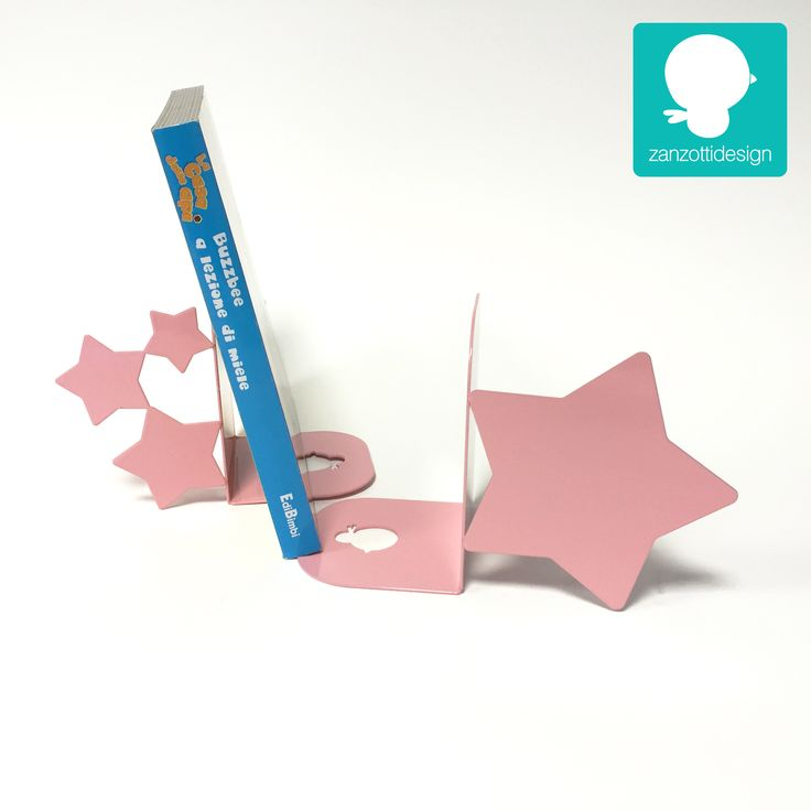 pink Decorations for Kids Room: Bookend for shelf See more on www.zanzottidesign.com