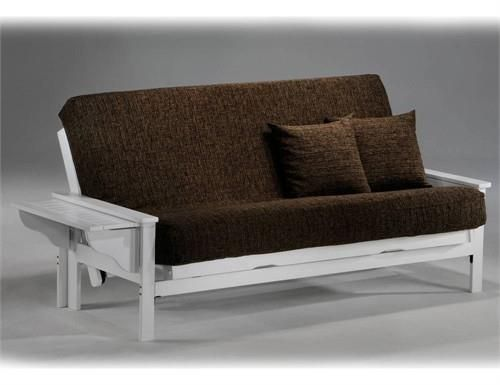 Seattle Chair Futon Frame - White Finish. Seattle Chair Futon Frame The Seattle is our classic tray-arm sweetheart and shes been with us a long, long time. Our Standard Collection wood futon frames are built to last. These prime quality frames are made from the fine.. . See More Futon Frames at http://www.ourgreatshop.com/Futon-Frames-C1037.aspx
