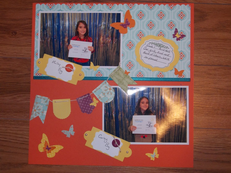 Love Tangerine Tango! It's one of my favorite colors available only through Stampin Up! And again I used the Hearts a flutter bundle