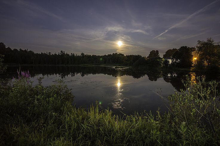 August #Supermoon, 2014 Northern #Ontario #Photography #Reflection #Summer #Pond