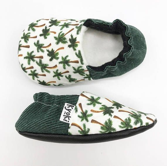 Palmtrees Babyshoes Tropical Babybooties Handmade Crib
