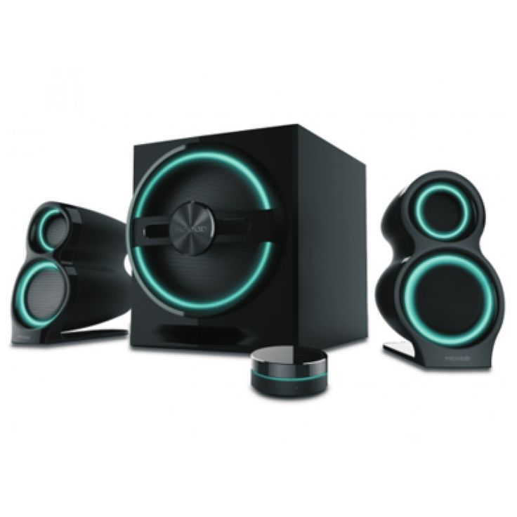 Microlab T10 Gaming 2.1 Subwoofer Speaker with Bluetooth - Black with LED Light