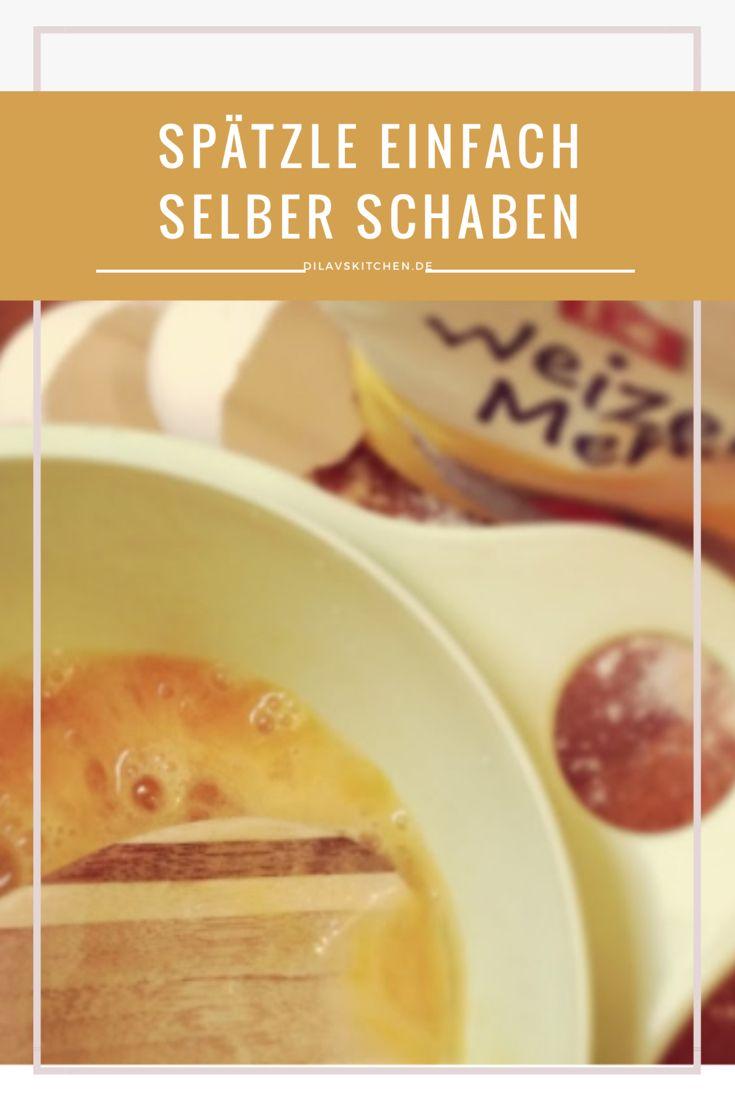 Drückst du dich auch noch davor, Spätzle selbst zu schaben? Dabei ist es doch so easy, die schwäbische Spezialität zu Hause hinzubekommen. Du brauchst noch nicht einmal spezielles Equipment. Wie es genau geht, erkläre ich dir hier: http://www.dilavskitchen.de/handgeschabte-spaetzle/ #spätzle #schwäbisch #nudeln #selbermachen #diy
