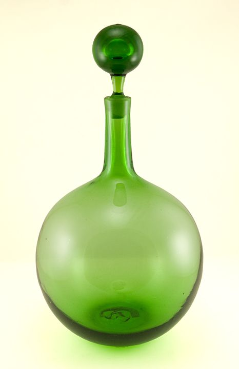 Scarce Blenko Art Glass decanter by Joel Myers