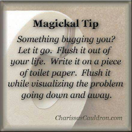 Magickal Tip - Flush Your Problems Away
