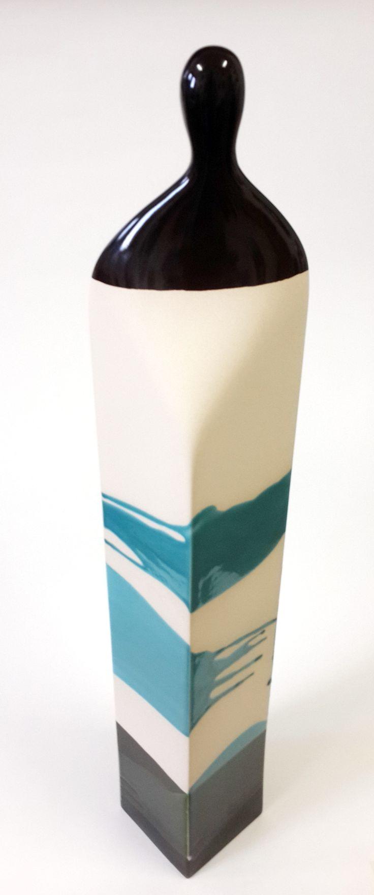 Kemal ULUDAĞ, 2014, Human Blocks 6-2 - İnsan Blokları 6-2, 65x9x9 cm., Stoneware-1200 °C